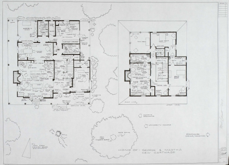MARK BENNETT Home of Blanche Dubois (A Streetcar Named Desire) 2007, India ink and graphite on vellum, 30 x 42 inches.