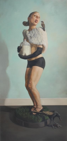 EERIK THOR SANDBERG Charity 2006, oil glaze on wood panel, 79 x 38 x 3.5 inches.