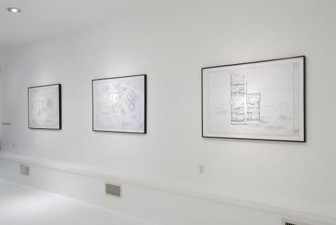 MARK BENNETT New Drawings 2007. Installation view: Conner Contemporary Art.