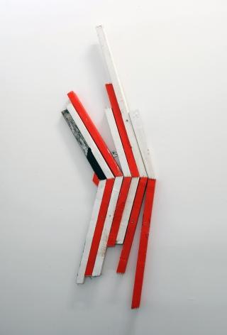 CORDY RYMAN Reverse Scrap K 2010, acrylic and enamel on wood, 57 x 22 inches