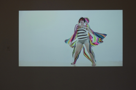MAGGIE SCHNEIDER Projection/Painting 4 2014, acrylic paint and digital video projection, dimensions variable, ed: 2.