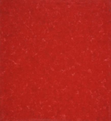 Howard Mehring  Untitled (Red Allover)  c.1962, magna on canvas, 25 x 23 inches.