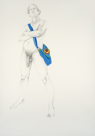 ZOË CHARLTON Untitled 1 (from Paladins and Tourists) 2010, graphite and gouache on paper, 93 x 69 inches (framed)