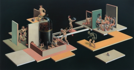 ERIK SANDBERG Transition 2006, oil on wood panel, 30 x 45 x 3 inches.