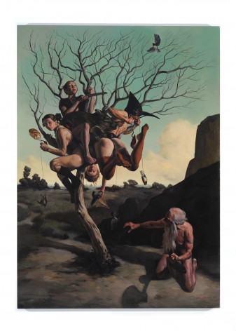 ERIK THOR SANDBERG Swing 2009, oil on canvas, 92 x 66 inches.