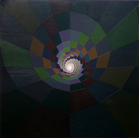 MICHAEL DOTSON Target 2011, acrylic on canvas, 48 x48 inches