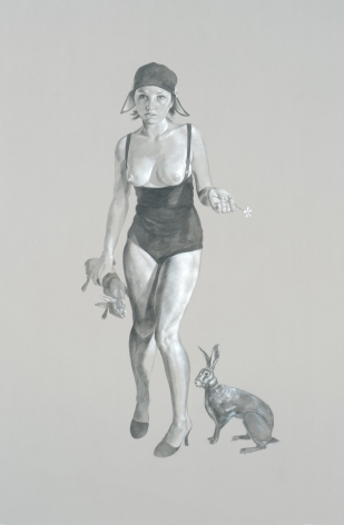 ERIK THOR SANDBERG Study for Cruelty 2007, graphite and gouache on paper, 41 x 29 inches.