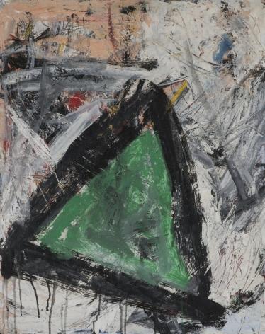 Gene Davis  Untitled (Green Triangle)  c.1958, oil on masonite, 30 x 24 inches.