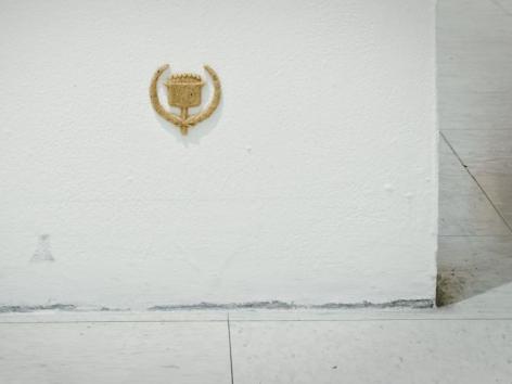 Benjamin Kelley Universal Symbol of Achievement human bone and resin, 2.75 x 2.5 x .25 inches
