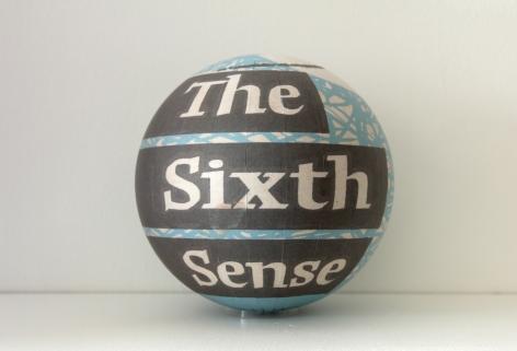 SUSAN MACWILLIAM  The Sixth Sense  2013/2014, inkjet paper, plastic sphere, 6 x 6 x 6 inches