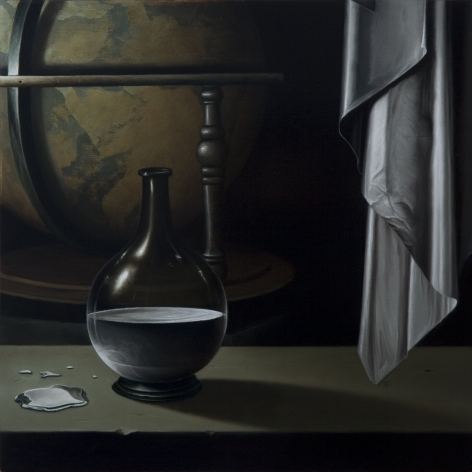 JOHN STARK Mercury 2010, oil on panel, 11 x 11 inches