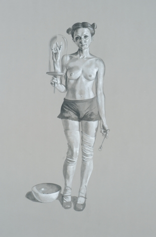 ERIK THOR SANDBERG Study for Patience 2007, graphite and gouache on paper, 41 x 29 inches.