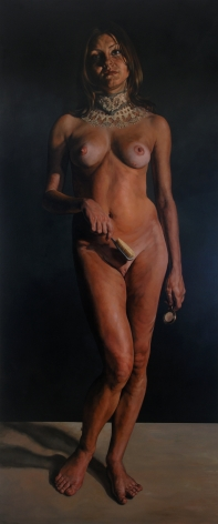 ERIK THOR SANDBERG Vanity (from Seven Deadly Sins) 2008, oil on canvas, 132 x 56 inches.