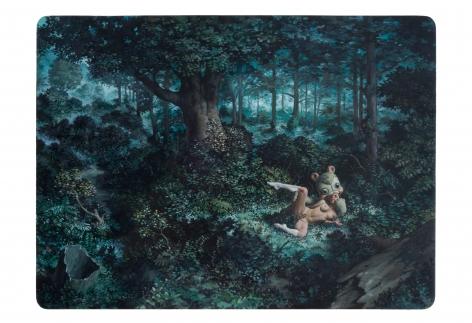 Erik Thor Sandberg  Prying  2011, oil on panel, 24 x 32 inches.