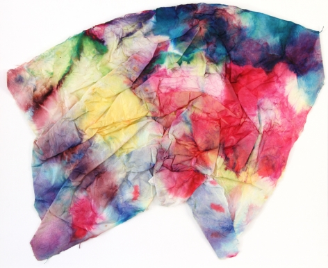 SAM GILLIAM  Untitled  1971, watercolor on folded paper, 20 x 24 inches.