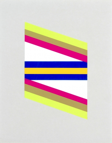 Paul Reed  Untitled  1967, acrylic on paper, 8 x 11 inches.