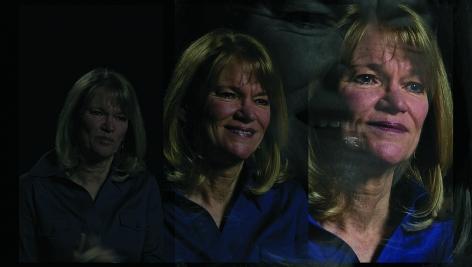 Lincoln Schatz The Network (Martha Raddatz), face-mounted pigment print, 16.75 x 30 inches