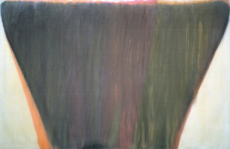MORRIS LOUIS Plenitude 1958, acrylic resin on canvas, 90.875 x 140 inches.