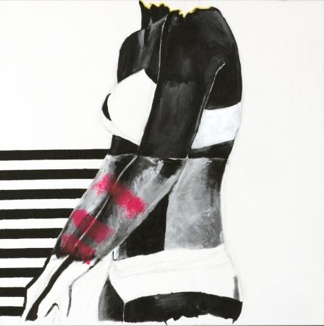 JESSICA MARIA HOPKINS  November 5  2019, acrylic, graphite on canvas, 24 x 24 inches.