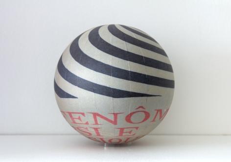 SUSAN MACWILLIAM  Fenomenos PSI  2013/2014, inkjet paper, plastic sphere, 6 x 6 x 6 inches