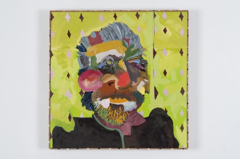 ALI SERADGE Untitled (Soft Suede) 2013, acrylic, oil paint, spray paint, and Ggraphite, 30 x 30 inches.