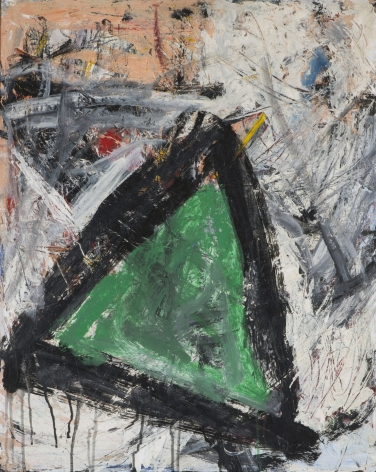 Gene Davis  Untitled (Green Triangle)  c.1958, oil on masonite, 30 x 24 inches.