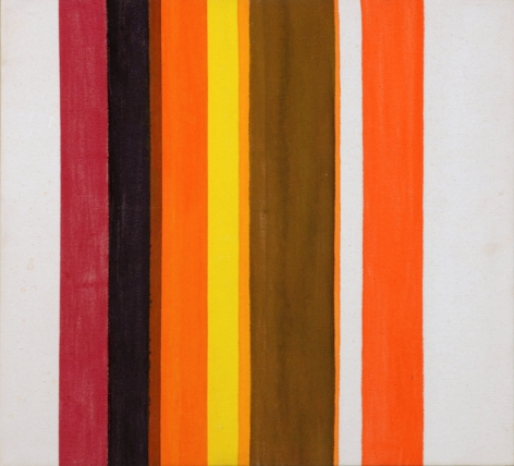 Howard Mehring  Untitled  1958, magna on canvas, 20 x 22.5 inches.