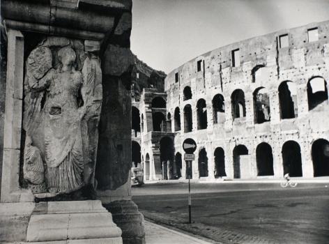 Lisette Model - Rome, Coliseum,1955 Gelatin silver print, printed c. 1955 ; Bruce Silverstein Gallery