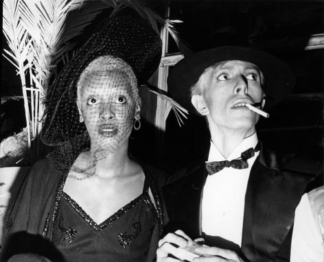 Bill Cunningham; Ava Cherry and David Bowie, Grammy Party, 1975 Gelatin silver print, printed c. 1975 8 x 10 in. ; Bruce Silverstein Gallery