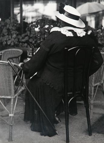 Lisette Model - Gambler, French Riviera, 1934 Gelatin silver print, printed c. 1950 ; Bruce Silverstein Gallery