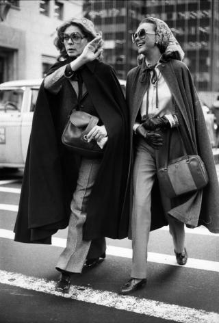 Bill Cunningham; Lauren Bacall, c. 1979-1981 Gelatin silver print, printed c. 1979-1981 10 x 8 in. ; Bruce Silverstein Gallery