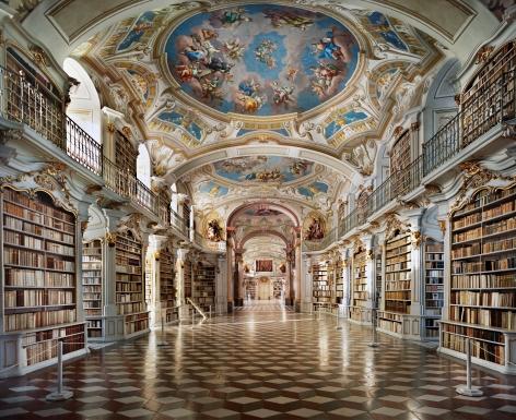 Ahmet Ertuğ - Admont Monastery Library, Austria, 2008 Chromogenic print ; Bruce Silverstein Gallery