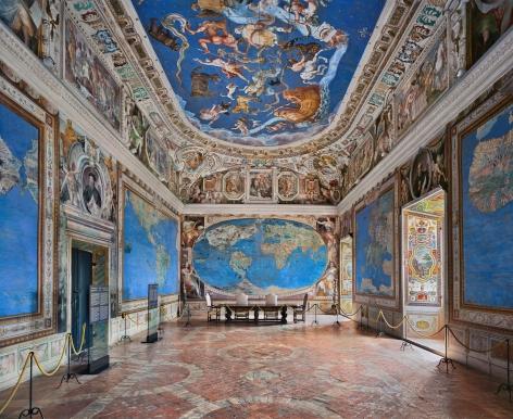 Ahmet Ertuğ - Villa Farnese, Sala del Mappamondo, Caprarola, 2019 Chromogenic print ; Bruce Silverstein Gallery
