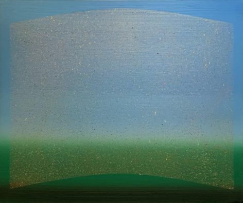 Adger Cowans ; Orbiting, 1998 Arcylic on canvas 60 x 72 inches ; Bruce Silverstein Gallery