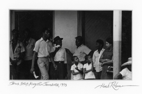 Herb Robinson - Bus Stop, Kingston, Jamaica, 1973 | Bruce Silverstein Gallery