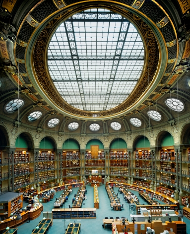 Ahmet Ertuğ - Bibliotheque Nationale de France, Oval Hall, Paris, 2008 Chromogenic print ; Bruce Silverstein Gallery