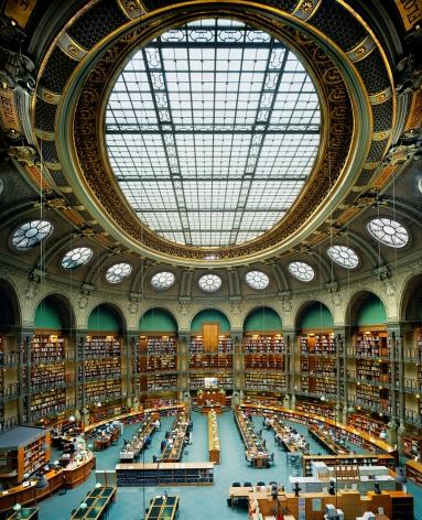 Ahmet Ertuğ - Bibliotheque Nationale de France, Oval Hall, Paris, 2008 Chromogenic print ; Bruce Silverstein Gallery