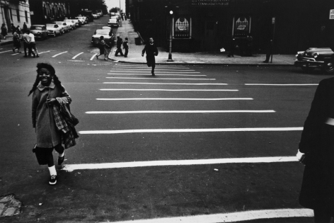 Louis Draper ; Crosswalk, New York, c. 1962 ; Bruce Silverstein Gallery