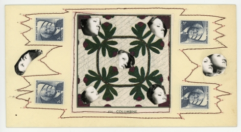 Keith A. Smith -  Postcard: Quilted Pattern, 1971    Frieze Masters 2019   Bruce Silverstein Gallery