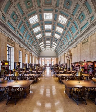 Ahmet Ertuğ - Widener Library, Loker Reading Room, Harvard University, Cambridge, MA, 2020 Chromogenic print ; Bruce Silverstein Gallery