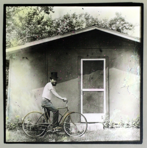 Keith A. Smith -  Me at My Shed - About to go after the Mail, 1973    Frieze Masters 2019   Bruce Silverstein Gallery
