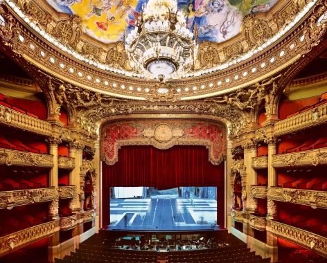 Palais Garnier Stage, Paris, 2009, Chromogenic print