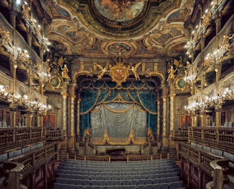 Ahmet Ertuğ - Margravial Opera House, Bayreuth, Germany, 2009 Chromogenic print ; Bruce Silverstein Gallery