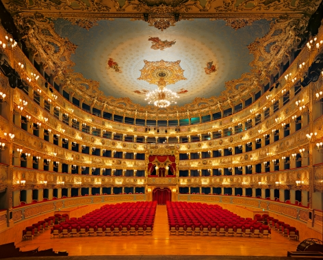 Ahmet Ertuğ - La Fenice Theater, Venice, 2009 Chromogenic print ; Bruce Silverstein Gallery