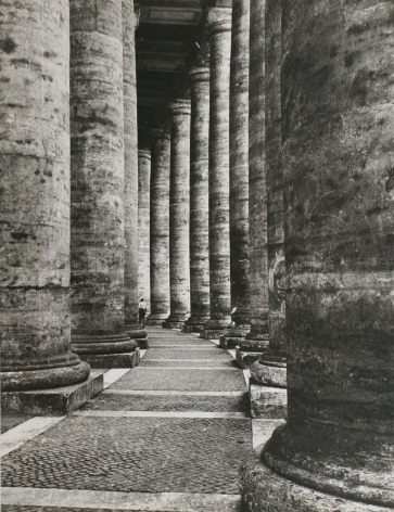 Lisette Model - Rome, Columns,1953-1955 Gelatin silver print, printed c. 1953-55 ; Bruce Silverstein Gallery