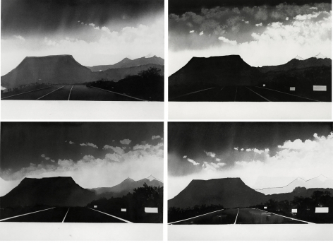 Alfred Leslie -  Near Gallup, New Mexico (from 100 Views Along the Road), 1981  | Art Basel 2020 | Bruce Silverstein Gallery