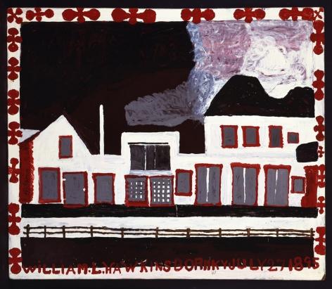 William Hawkins -  White Building with Silver Windows, 1989  | Art Basel 2020 | Bruce Silverstein Gallery