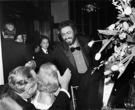 Bill Cunningham; Pavarotti, Metropolitan Opera, 1987 Gelatin silver print, printed c. 1987 8 x 10 in. ; Bruce Silverstein Gallery