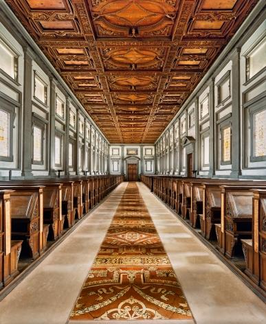 Ahmet Ertuğ - Michelangelo's LaurentianLibrary, Florence, 2016 Chromogenic print ; Bruce Silverstein Gallery