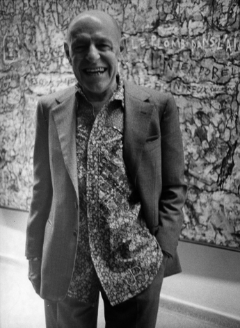 Bill Cunningham; Jean Dubuffet, c. 1970s Gelatin silver print, printed c. late 1970s 10 x 8 in. ; Bruce Silverstein Gallery
